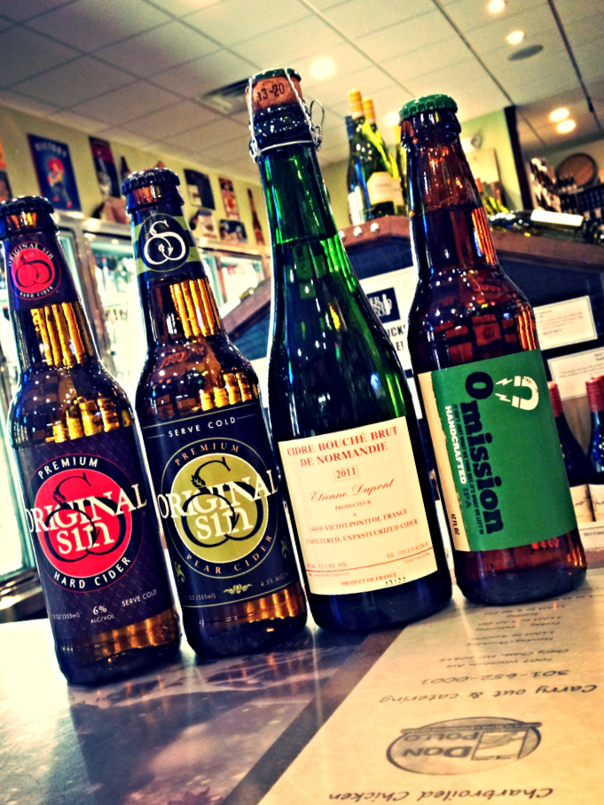 Original Sin Apple & Pear Ciders, Dupont Bouche Cidre, and Omission Gluten Free IPA