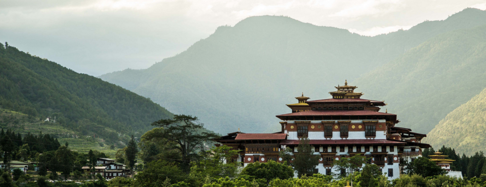 "The Punakha Dzong, known as ""The Palace of Great Happiness"""