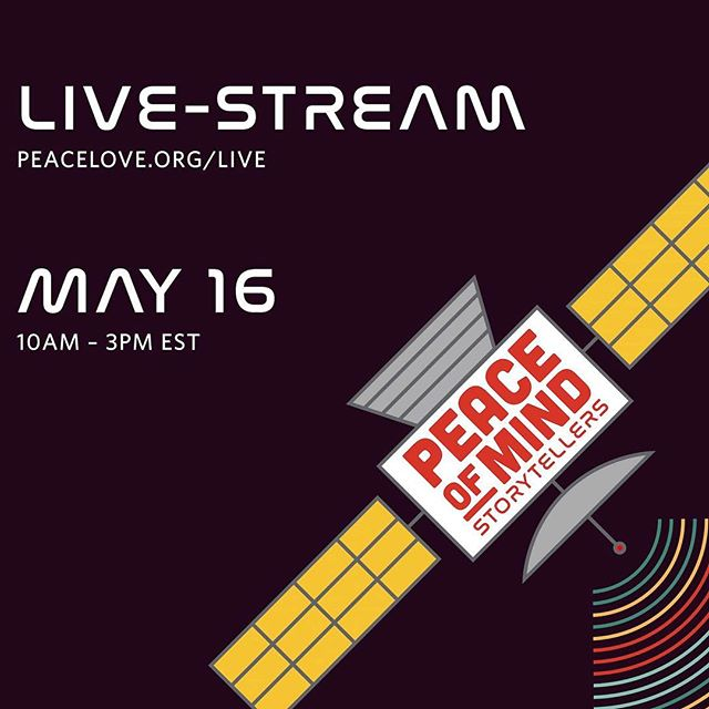 PeaceLove Studios is an organization near and dear to our hearts. Please tune in to their Storytellers event livestream it will change the way you look at Mental Health acceptance and awareness. You can access their livestream link in our profile