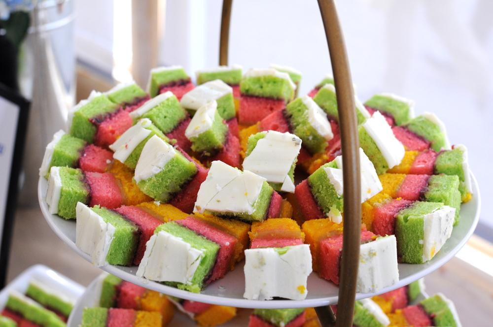 Alejandra's  springtime Italian rainbow cookies