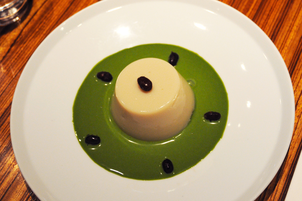 Soy milk panna cotta at Toraya Cafe