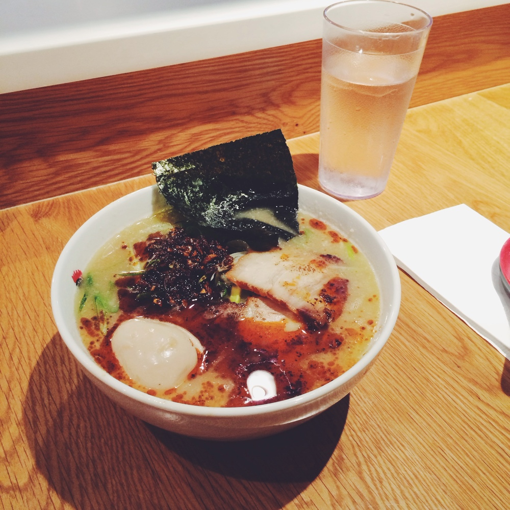 Spicy ramen at Totto Ramen