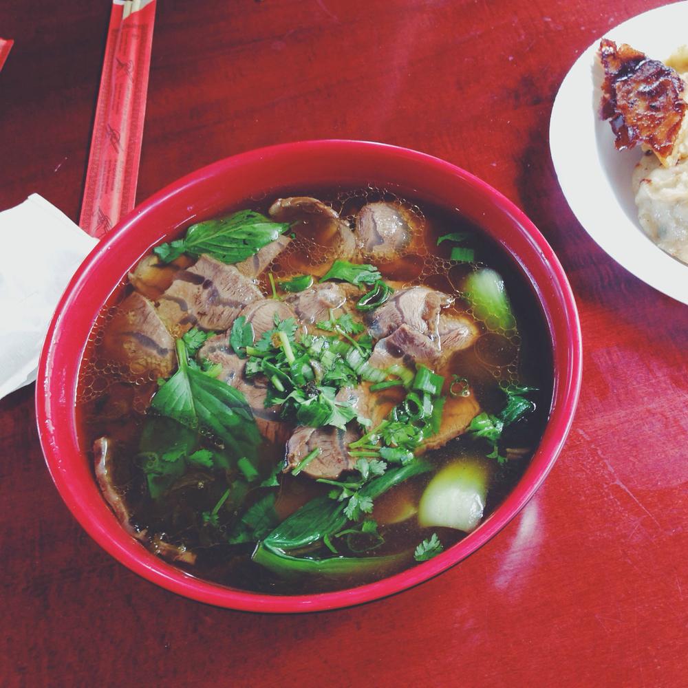 Beef noodle soup at Lao Bei Fang Dumpling House