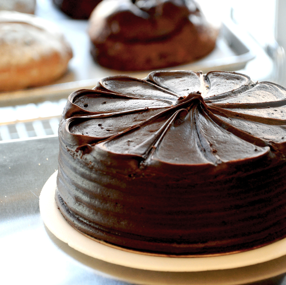 Chocolate cake at Leske's Bakery