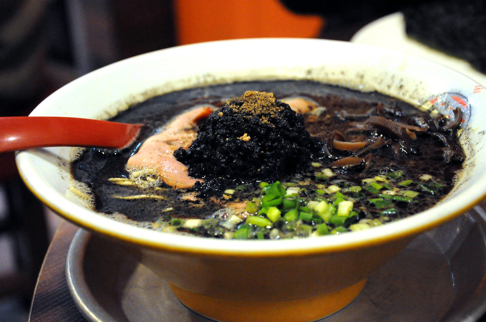 Squid ink ramen at Butao Ramen