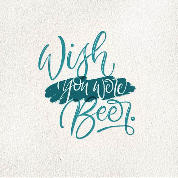 dcletters_lettering_wish you were beer