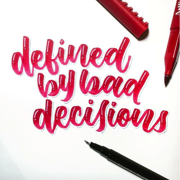 dcletters_lettering_bad decisions