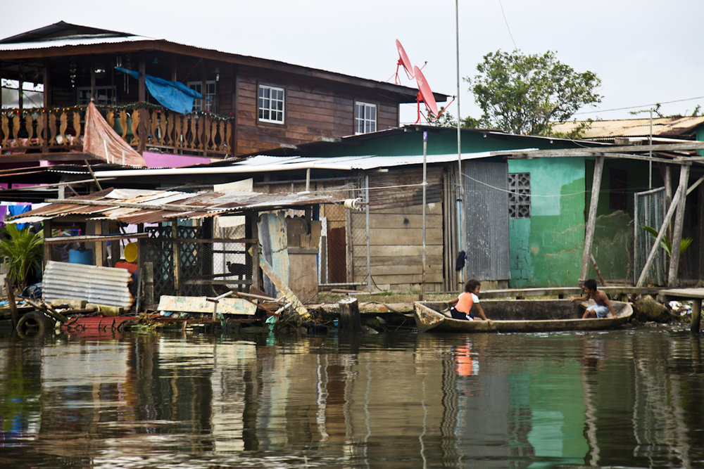 Life on the water in Bocas del Toro, Panama.