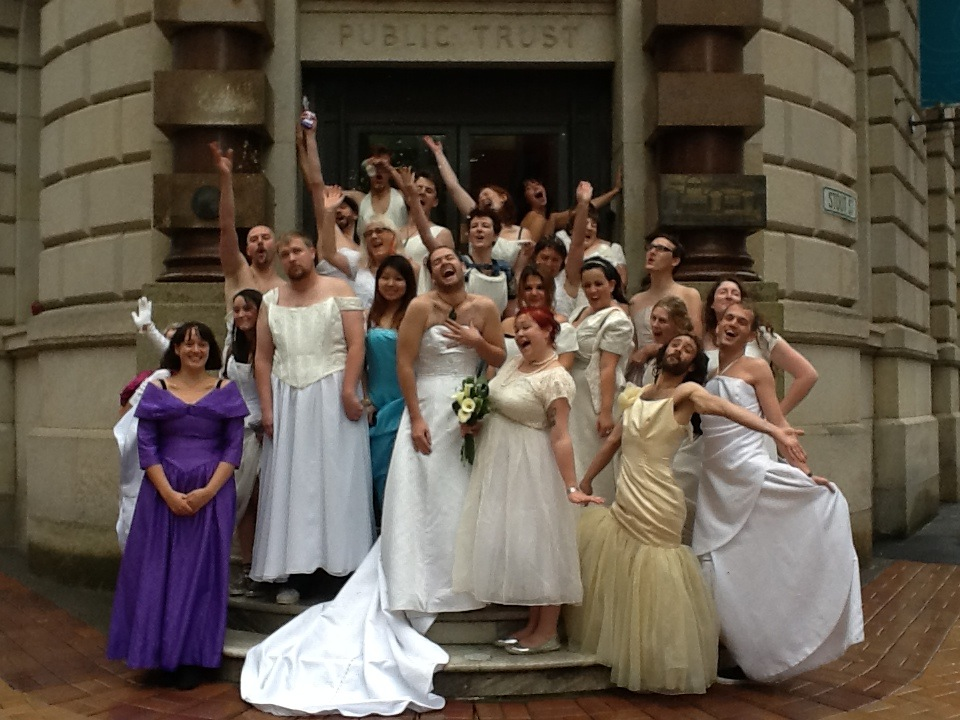 Brides, Lambton Quay, 2013.