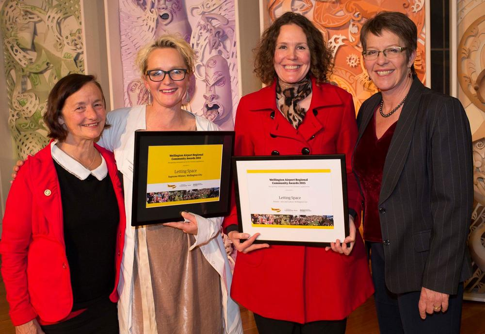 Dawn Sanders and mayor Celia Wade Brown with Letting Space's Sophie Jerram and Helen Kirlew Smith (Mark Amery absent)