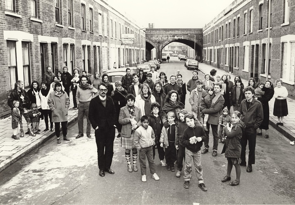 Residents of Beck Road, E8. Photo: Edward Woodman (1989)    http://www.acme.org.uk/aboutacme/history
