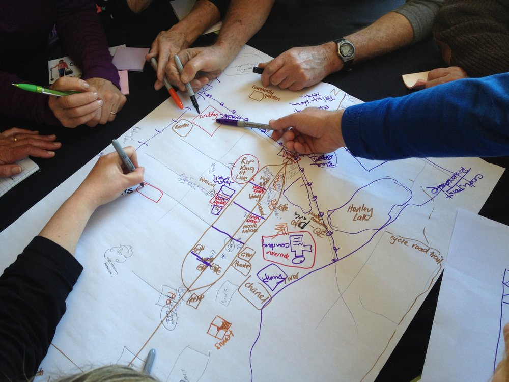Masterton community at work with their ideas for the CBD in a community workshop at Aratoi November 2016.