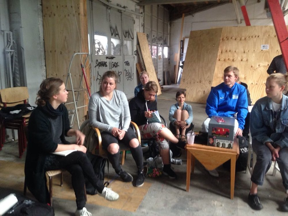 Teaching at the urban intervention studio, Copenhagen University