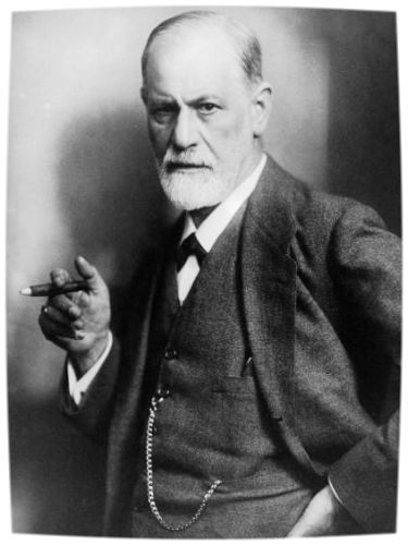 Sigmund Freud  pictured with one of the ever-present cigars he enjoyed regularly.