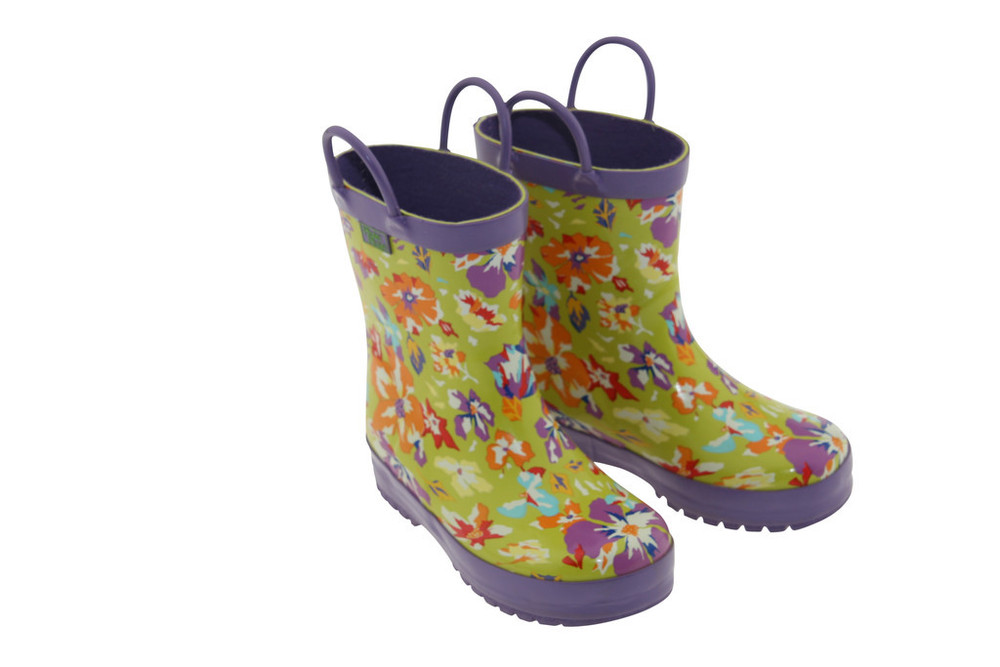 Lime Flower Rainboots (RB - LF)