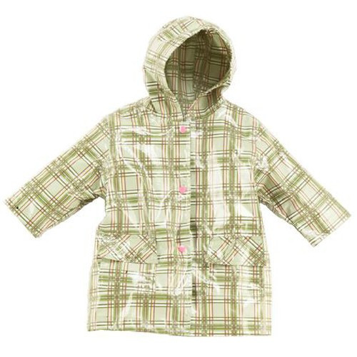 Green Plaid Raincoat Lined (RC - LGP) and Un-Lined (RC - GP)