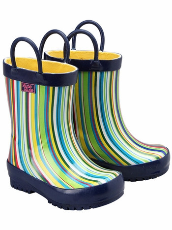 New Blue Stripe Rainboots (RB - NB)
