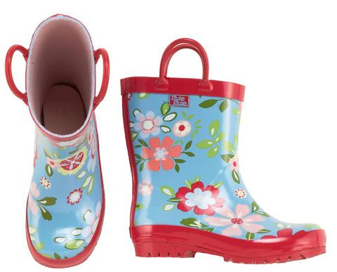 Blue Floral Rainboots (RB - BF)