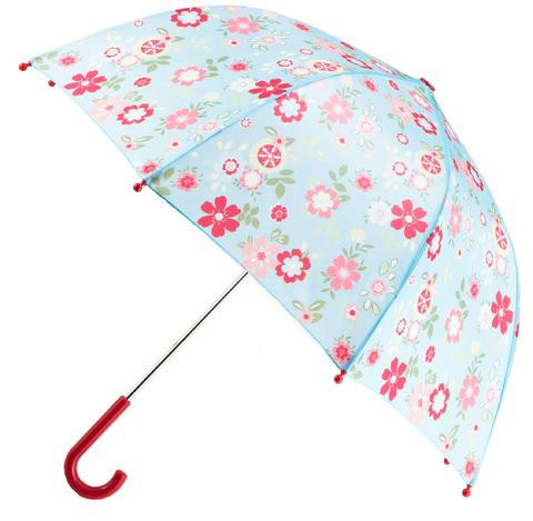 Blue Floral Umbrella (RU - BF)