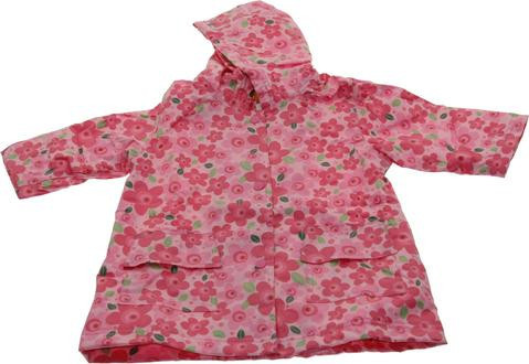New Pink Flower Raincoat Lined (RC - LNF) and Un-Lined (RC - NF)