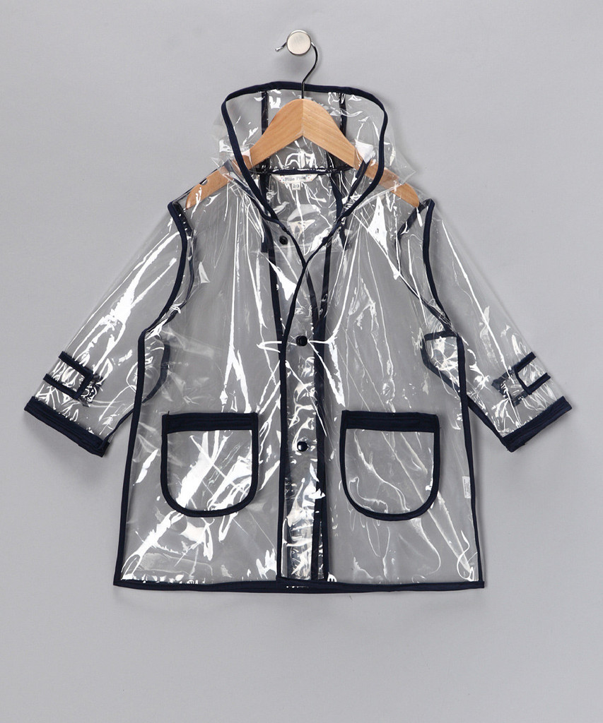 Solid Navy Raincoat (R2C - NY)