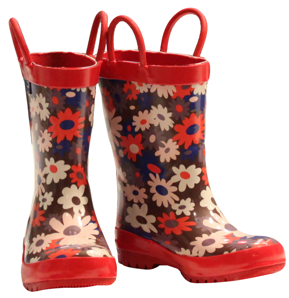 Brown Flower Rainboots (RB - BF)