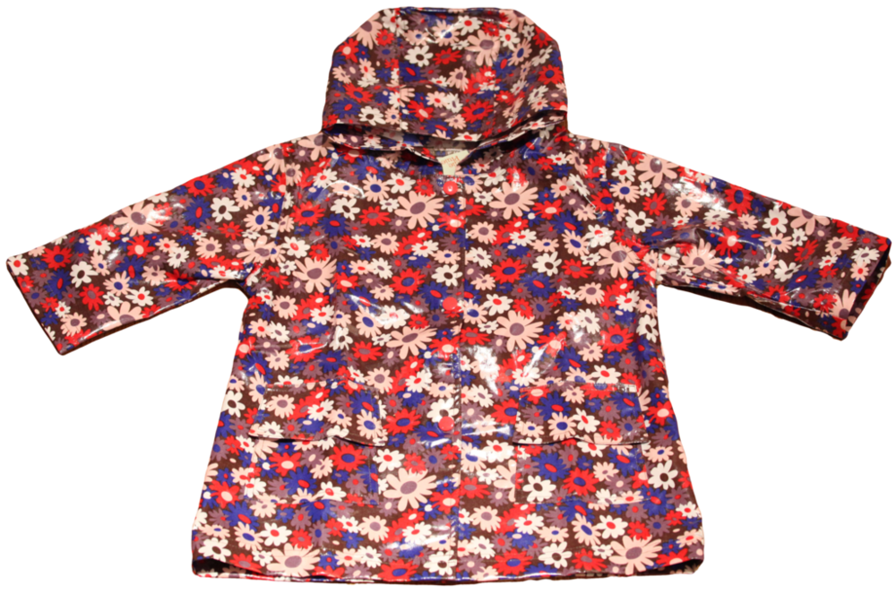 Brown Flower Raincoat Lined (RC - LBF) and Un-Lined (RC - BF)