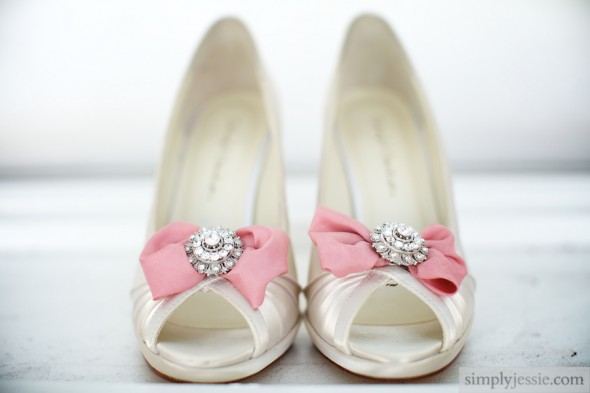 Pink White Wedding Shoes