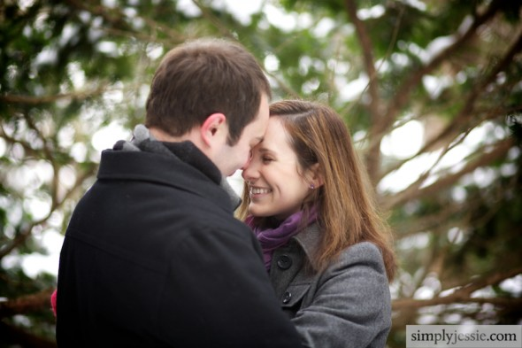 Winter Woods Engagement Photography