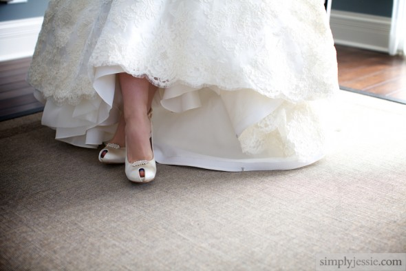 Chicago Bride Shoes and Dress