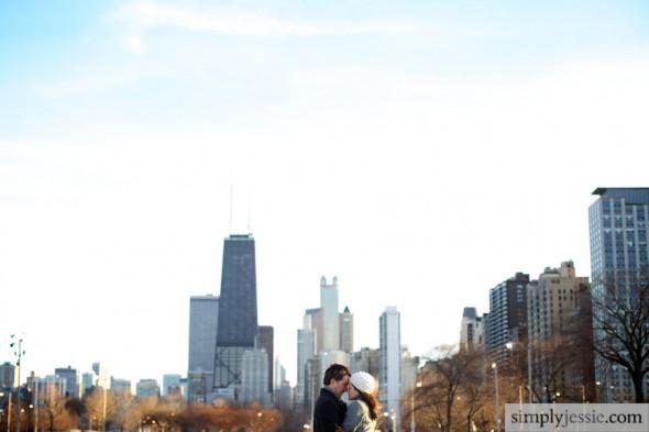 Chicago Winter Skyline Weddings
