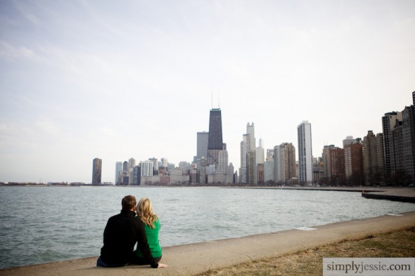 North Ave Beach Chicago Engagement Photography