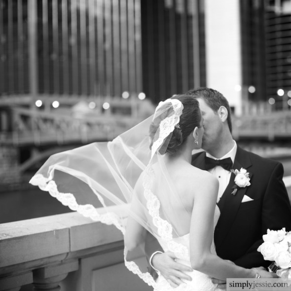Romantic Black & White Wedding Photography