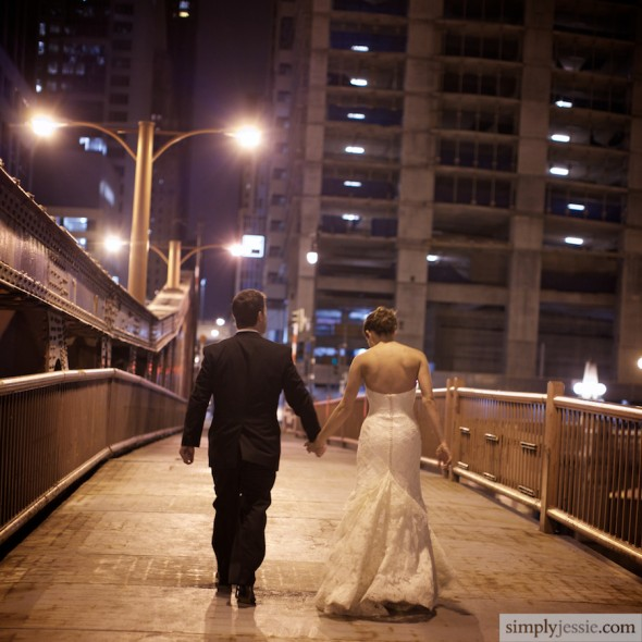 Wedding Photography Chicago at night