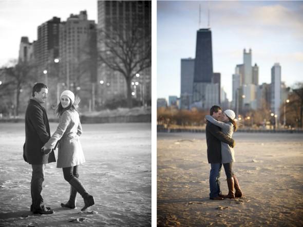 Winter Chicago Skyline