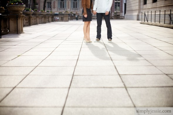 Art Institute Chicago Engagement Photography