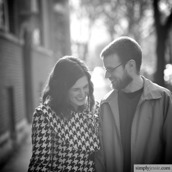 Black & White Chicago Engagement