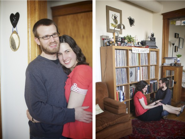 Engagement Session in Chicago Home