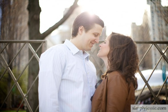 Romantic Downtown Chicago Engagement Photography