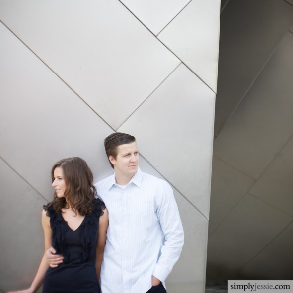 Urban Chicago Engagement Photos