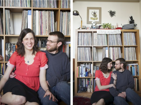 Vintage Engagement with album records