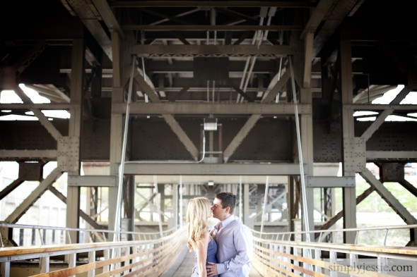 Milwaukee Pedestrian Bridge Engagement Photography