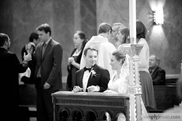 Ceremony in St Clement, Chicago