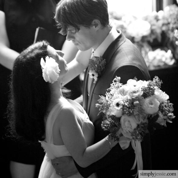 Dramatic Wedding Black and White
