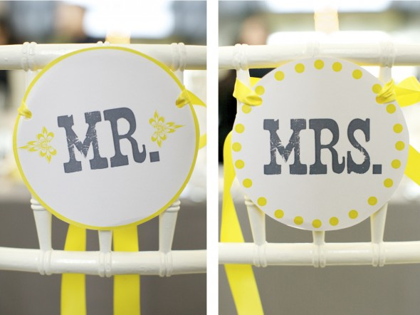 Mr & Mrs Wedding Signs