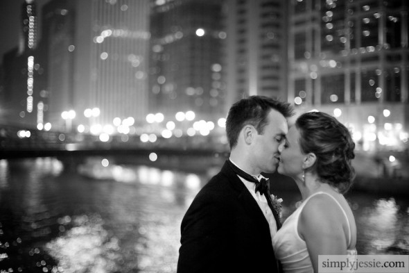 Night Chicago Wedding photography