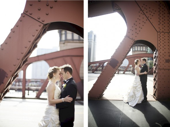 Untraditional LaSalle Bridge Wedding Photography