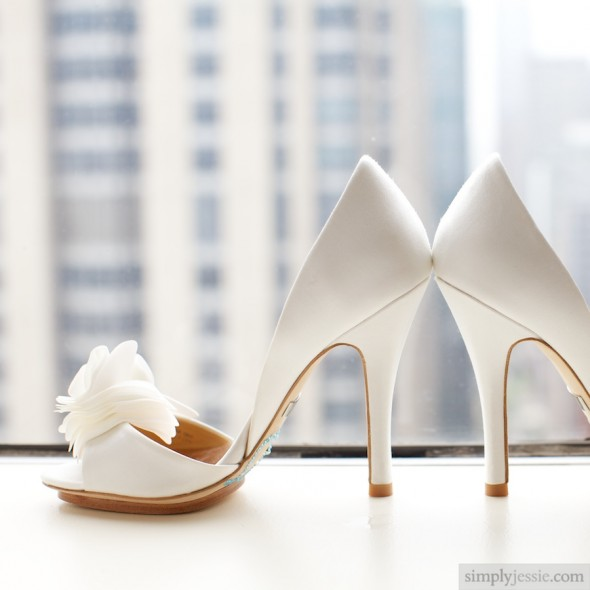 White Bride Shoes at Affinia