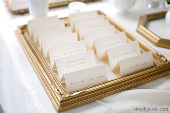 Antique Picture Frames with Wedding PlaceCards