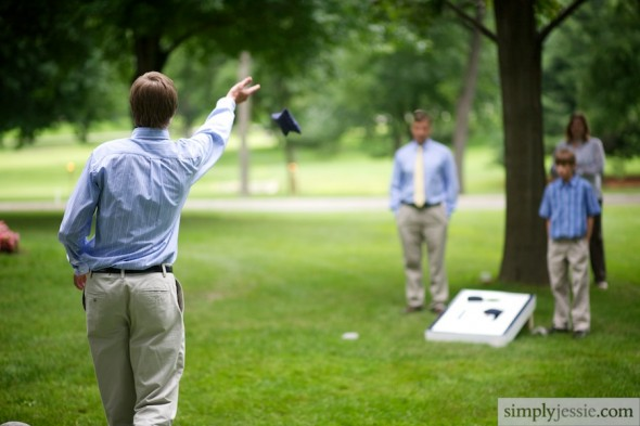 Lawn Games at Wedding